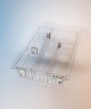 Clear polycarbonate Medstor tray