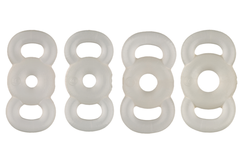 Very soft constriction rings, 4 sizes