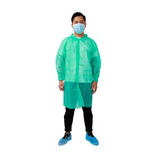 dark green disposable lab coat with velcro13390111396
