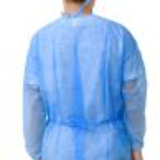 knitted cuff blue sms isolation gown26242471791