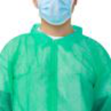 dark green disposable lab coat with velcro15452575363
