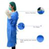 blue medical disposable sms surgical gown17309255248