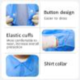 blue button disposable smock lab coat18278074663