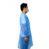 knitted cuff blue sms isolation gown26246534290