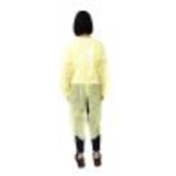 yellow pe coated disposable isolation gown30296975035