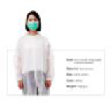 knitted collar snap closure disposable white26297281737