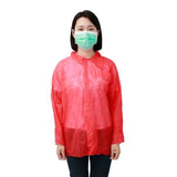 red disposable lab coat39414287417