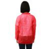 red disposable lab coat41384045452