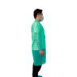 dark green disposable lab coat with velcro15447417789