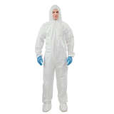 hooded white microporous coverall06131564372