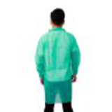 dark green disposable lab coat with velcro15448980435