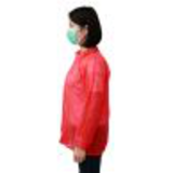 red disposable lab coat41385138625