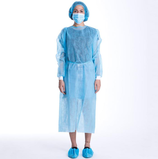 blue pp pe plastic sterile isolation gown32152962697