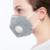 vertical fold dust mask with black exhalation21153363423