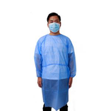 knitted cuff blue sms isolation gown24246165716