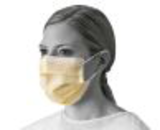 yellow hygiene mask with flat soft ear loop19447214426