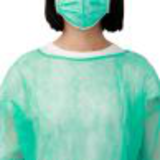 green sms isolation gown45379717853