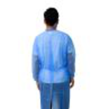 knitted cuff blue sms isolation gown26243722039