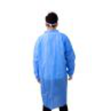 blue button disposable smock lab coat18272761398