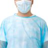 customized light blue chemo tested cover gown36341134507