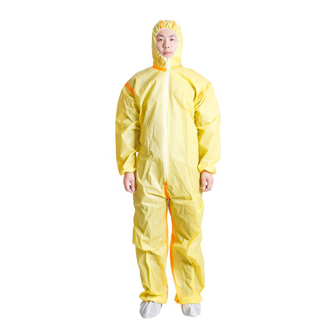 yellow microporous coverall for cleanroom01542229061
