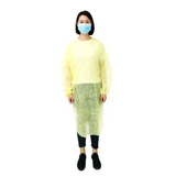 yellow pe coated disposable isolation gown29017100896