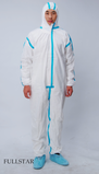 Microporous Coverall With Taping