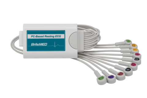 BriteMED® 12-Lead Portable ECG w/ 0.58m snap type cable