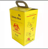 5L Medical Biohazard Safety Cardboard Box Sharp Container