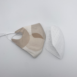 Reuseable washable fashion fabric Mask with BFE 95% replacable filter