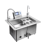 Built in ultrasonic cleaning system