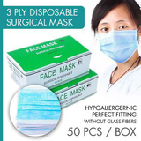 3 ply disposable surgical mask 50pcs box