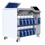 Blood Collection Tube Sorting System is applied for sorting blood collection tubes from both blood collection tube preparation module and bulk inlet from outpatient and inpatient department.