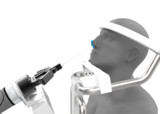 Nasal Swab Robot insert into the nostril with high accuracy designed angle
