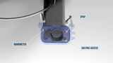 CPAP, MANOMETER AND GASTRIC ACCESS HOLES