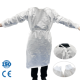 Leboo® PE Full Coated Fluid Resistant Isolation Gown