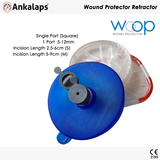 Wound Protector Retractor with Cover S-M Square