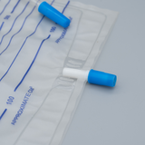 Disposable Urine Bag with T valve and push outlet