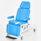 Patient Chair with footrest, independent height adjustment of back and foot sections & horizontal layout.
