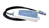 Carries out spectrophotometric analysis with the registration of arterial temperatures infrared radiation.