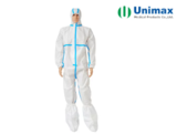 EN13688 Unimax 65gsm Disposable Protective Coveralls
