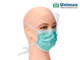 Antifog 3 ply Disposable Surgical Face Mask With tie and Shield