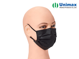 Black Earloop Unimax Disposable Surgical Face Mask
