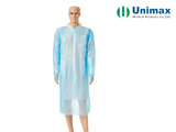 plastic long sleeve aami pb70 disposable isolation gowns