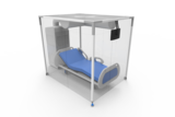 ISOLAIR protective tent in positive pressure, for immuno deficient patients