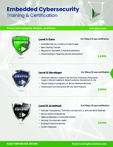 Velentium - Cybersecurity Training & Certification.pdf