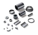 Plastic bonded, pressed magnets