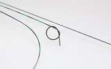 Glider - Nitinol corewire, radiopaque highly flexible PU-tip with subsequent PTFE sheath and PTFE coating