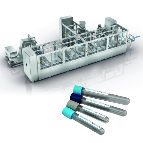 Assembly machine for blood collection tubes covers