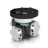 Compact, oil-less 20L compressor for portable oxygen concentrators and ventilators